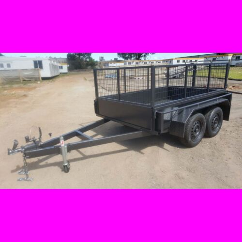 8x5 galvanised tandem trailer local made quality box trailer with crate cage