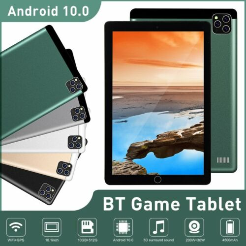 10.1inch 10G+512G WiFi Tablet Android 10.0 HD Bluetooth Game Tablet Dual Camera