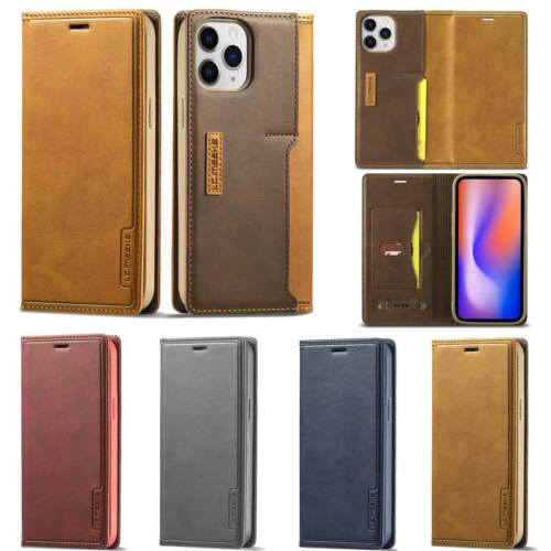 Leather Case For Iphone 12 11 Pro Max 6 7 8 Plus X Flip Magnetic Card Slot Cover