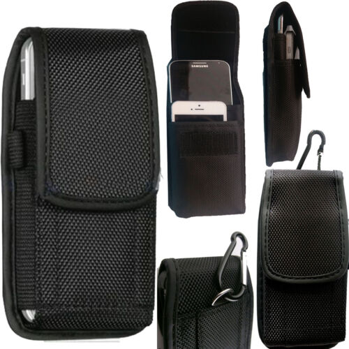2 in1 Universal Nylon Belt Loop Case Cover Holster Pouch for Large Mobile Phone