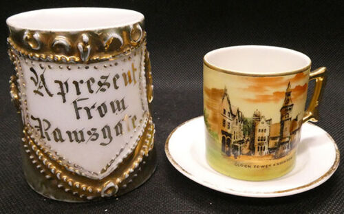 Souvenir Porcelain Cups from Ramsgate and Knighton