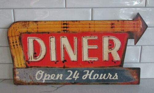 Arrow Metal DINER Kitchen Wall SIGN*Primitive/French Country/Farmhouse Decor*NEW