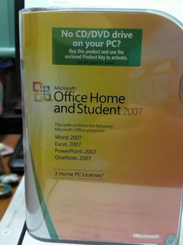 Microsoft Office Home and Student 2007 - 3 Home PC Licence's