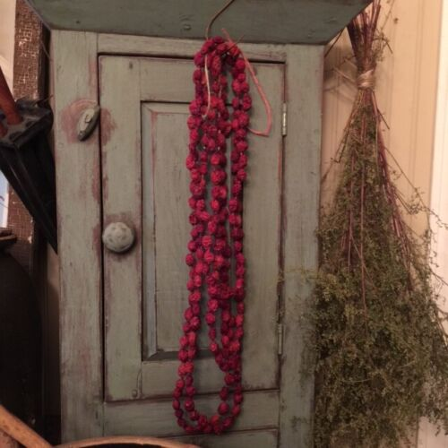 Primitive Dried Cranberry Garland Early Look Homestead Christmas 12 feet