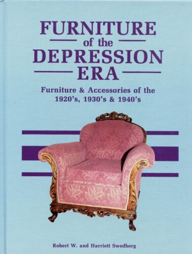 American Depression Furniture 1920-1940 - Types Makers / Scarce Illustrated Book