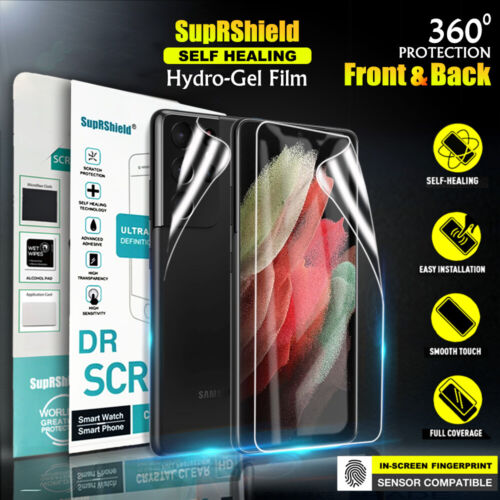 For Samsung Galaxy S21 Ultra S21+ Plus HYDROGEL Full Cover Screen Protector
