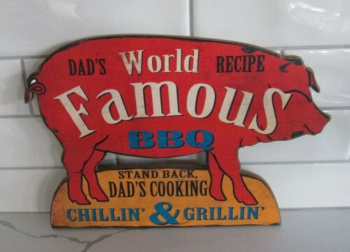 PIG SIGN~Dad's BBQ Grilling*Primitive/French Country/Farmhouse Kitchen Decor