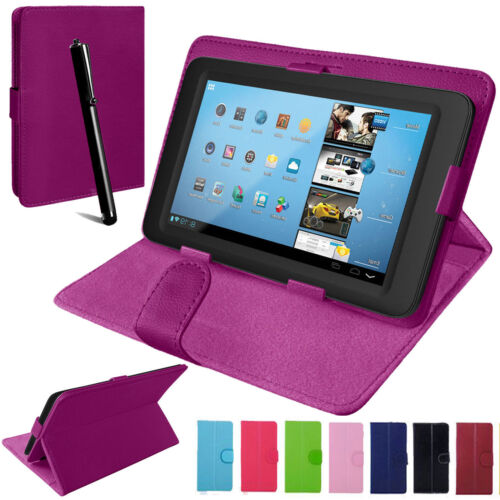Universal Leather Stand Folding Folio Case Cover Pouch For 7 & 8 Inch Tablet Tab