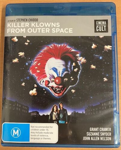 KILLER KLOWNS FROM OUTER SPACE Blu-ray BONUS FEATURES Region B NEW CINEMA CULT