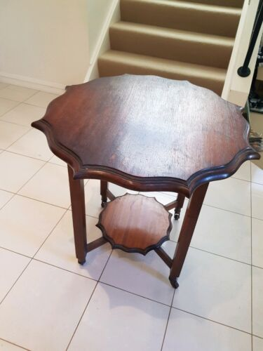 Unusual Edwardian? Wooden Octagonal side table from  UK 1920's