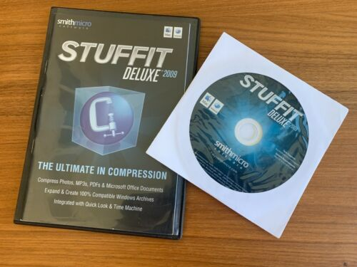 RARE Vintage 2009 Smith Micro Stuffit Deluxe 2009 for Mac OS 10.4.2+