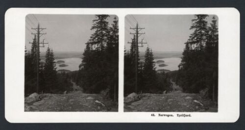 Antique Stereoview  NORWAY, TYRIFJORD  ~ 1906