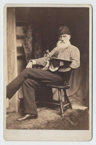 William Morris Hunt by James Wallace Black c. 1879 Artist Painter Cabinet Photo
