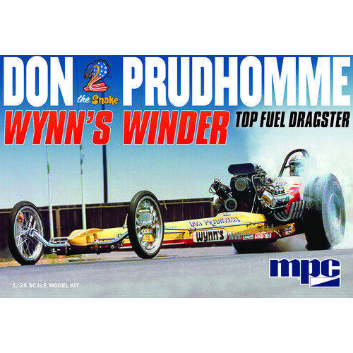 """MPC 921 1/25 Don """"Snake"""" Prudhomme Wynns Winder Dragster Plastic Model Kit - MPC"""