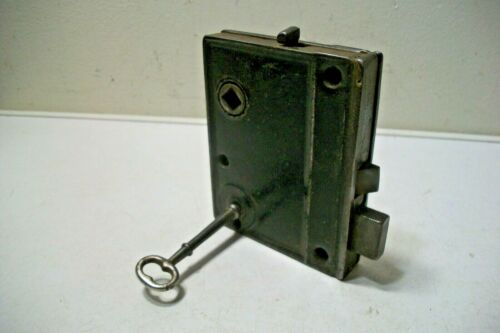 Antique Interior Mortise Lock Door with Key, Works