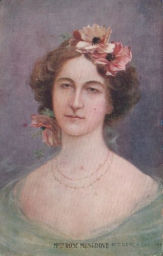 VINTAGE POSTCARD EARLY ARTIST DECLOSEY MISS ROSE MUSGROVE 1900s