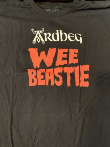 ARDBEG SCOTCH WHISKY WEE BEASTIE T SHIRT SIZE X-LARGE (XL) IMPOSSIBLE  BRAND NEW