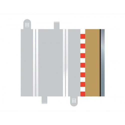 SCALEXTRIC BORDERS & BARRIERS HALF STRAIGHT (FOR C8207) (4) - 57-C8223