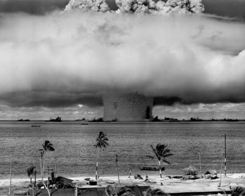 BAKER NUCLEAR BOMB TEST 8X10 PHOTO WWII PICTURE UNDERWATER BLAST MUSHROOM CLOUDReproductions - 156472