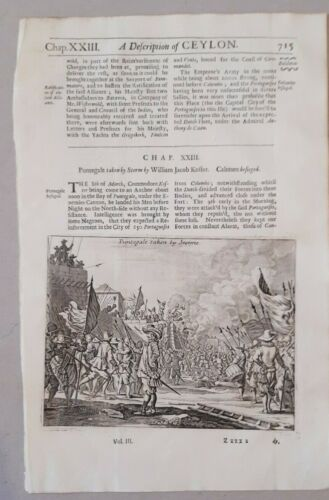 Map , Churchill VIEW CEYLON  INDONESIA two engravings on one page (19 y 20)