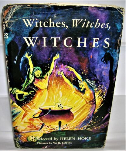 VINTAGE 1950's HALLOWEEN Book WITCHES, WITCHES, WITCHES Helen Hoke ILLUSTRATED