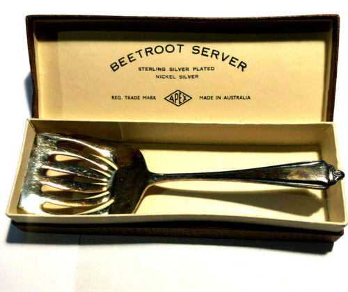 Vintage Silver Plated EPNS BEETROOT SERVER APEX Made in Australia