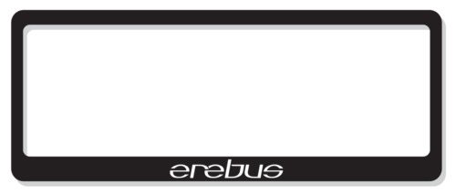 Erebus Number Plate Covers - Standard
