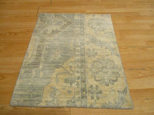 2x3 Modern Agra ABC Collection Vegetable Dye Handmade-knotted Wool Rug #6