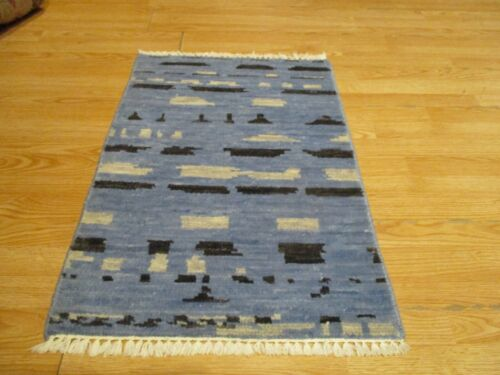 2x3 Modern Agra ABC Collection Vegetable Dye Handmade-knotted Wool Rug #5