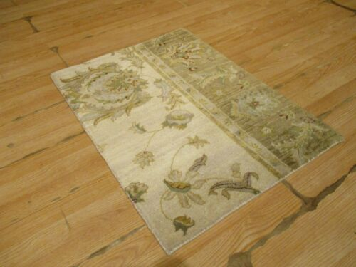 2x3 Modern Agra ABC Collection Vegetable Dye Handmade-knotted Wool Rug #11