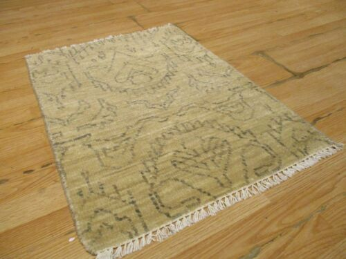 2x3 Modern Agra ABC Collection Vegetable Dye Handmade-knotted Wool Rug #4
