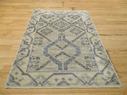 2x3 Modern Agra ABC Collection Vegetable Dye Handmade-knotted Wool Rug #40