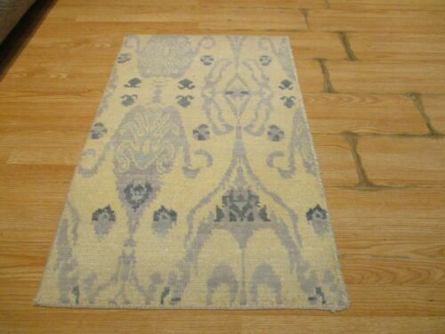 2x3 Modern Agra ABC Collection Vegetable Dye Handmade-knotted Wool Rug #41