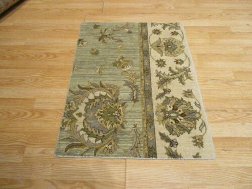 2x3 Modern Agra ABC Collection Vegetable Dye Handmade-knotted Wool Rug #19