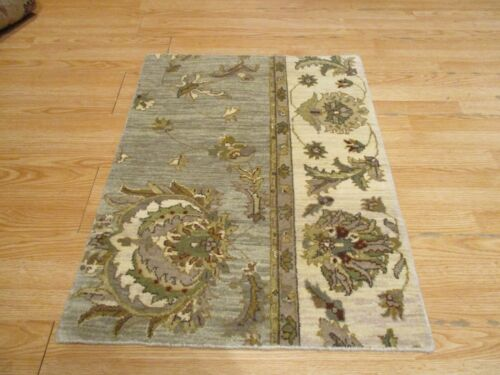 2x3 Modern Agra ABC Collection Vegetable Dye Handmade-knotted Wool Rug #18