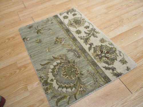 2x3 Modern Agra ABC Collection Vegetable Dye Handmade-knotted Wool Rug #15