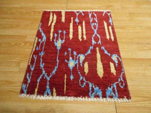 2x3 Modern Agra ABC Collection Vegetable Dye Handmade-knotted Wool Rug #9