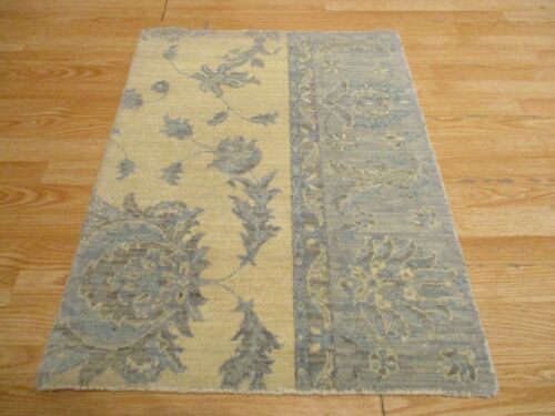 2x3 Modern Agra ABC Collection Vegetable Dye Handmade-knotted Wool Rug #21