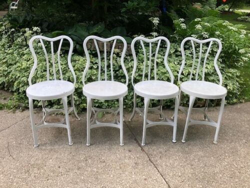 RARE Set of 4 UHL Toledo Chair Industrial Metal Steampunk Chair MCM 1940 Salvage