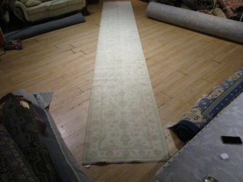 """19'4"""" FEET RUNNER VERY UNIQUE PERSIAN HANDMADE-KNOTTED WOOL RUG 582996"""