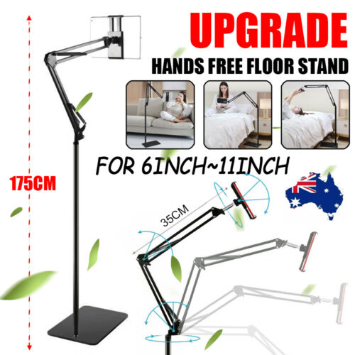Adjustable Hands Free Floor Stand Bed Clip Holder For Tablet iPad iPhone Switch