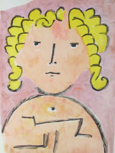 PAUL KLEE - BLONDE - ORIGINAL VERVE LITHOGRAPH - 1939 - FREE SHIP IN US !!!