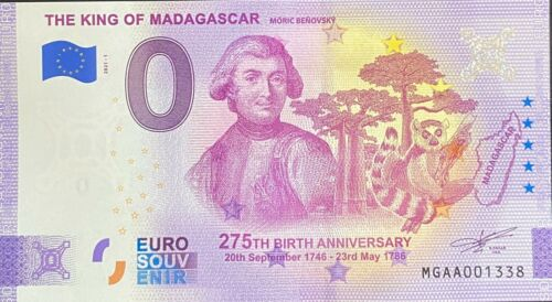BILLET 0 EURO THE KING OF MADAGASCAR  2021 NUMERO DIVERS