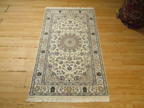 3x5 VERY UNIQUE NAIN HANDMADE-KNOTTED WOOL/SILK RUG 585327