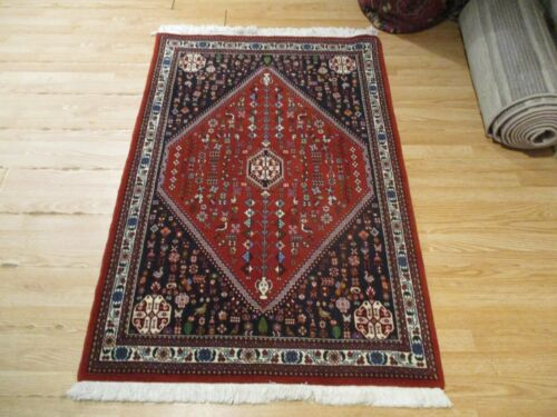 3x5 VERY UNIQUE INTRICATE  ABADEH VEGETABLE DYE HANDMADE-KNOTTED WOOL RUG 585594