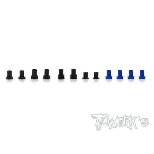 TWORKS 7075-T6 Alum. Caster Hat Bushings Set ( For AE RC10 B6/B6D ) 2 each of 0d