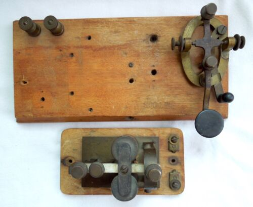 J H BUNNELL *SOO LINE Marked* Telegraph Key and Sounder *Rare* Free Shipping*
