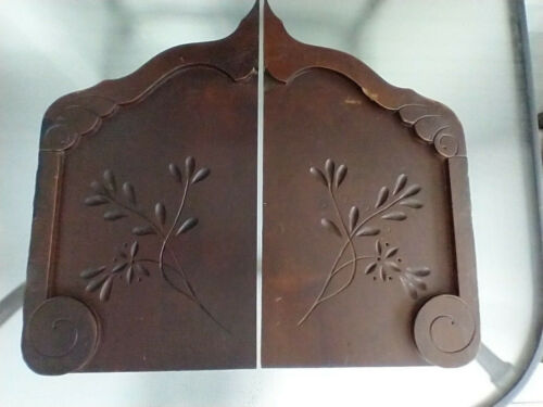 Awesome Large Pair Walnut Carved Architectural Shelf Brackets Victorian Corbels