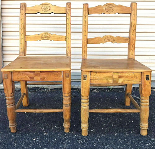 """20% OFF Pair New Mexico Chairs EMPIRE 19TH CENT. 'Ca 1850-70', 33"""" x 16"""" x 15"""""""