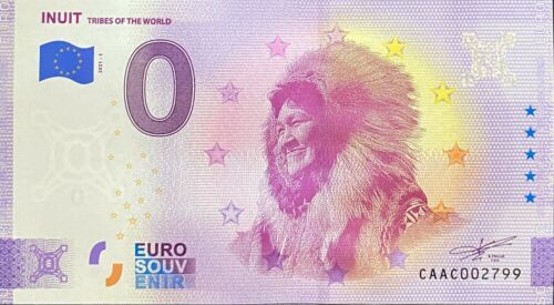 BILLET 0 EURO INUIT TRIBES OF THE WORLD CANADA  2021 NUMERO DIVERS